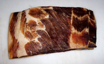 Slab of smoked bacon